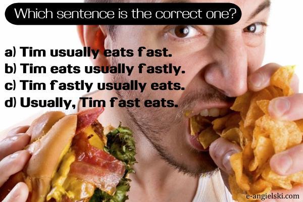 nauka słowek - wybierz poprawne zdanie