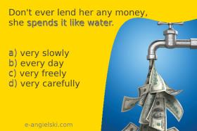 idiom angielski spend money like water